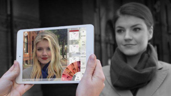 通過上傳顧客的自拍相片,她們就可以使用AR Apps,把不同的化妝品測試在你的相片上。