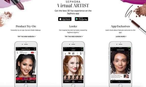 Sephora的Virtual Artist提供了一個有趣而簡單的工具,你可以使用手提電腦或手機以網上嘗試不同的化妝品顏色